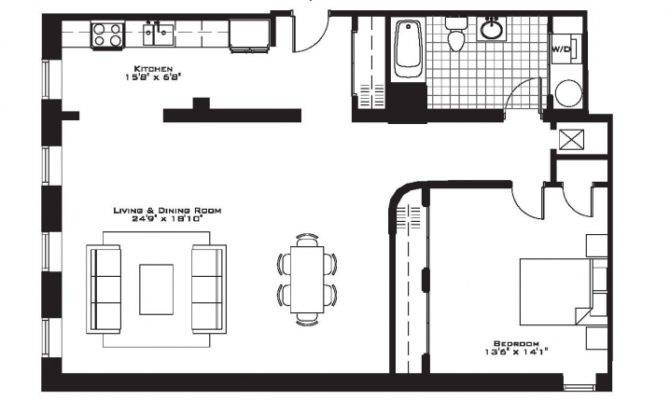 Related One Bedroom Apartment Floor Plans