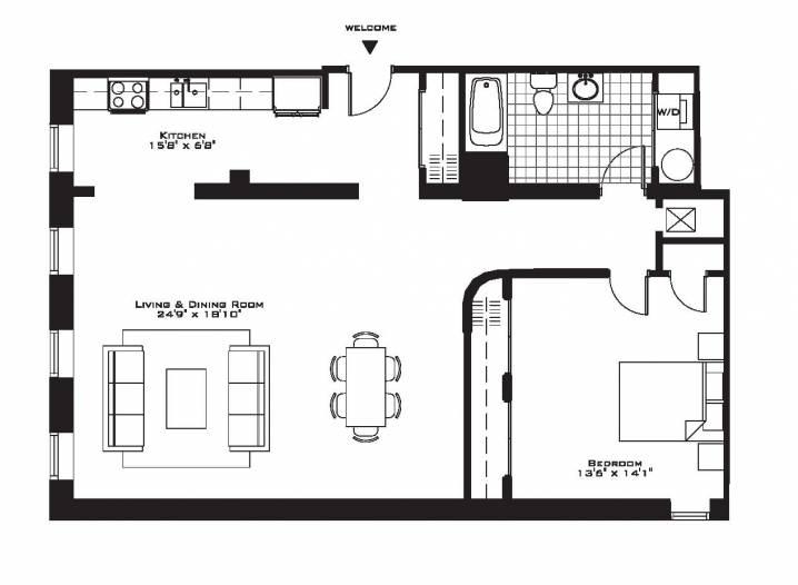 Related One Bedroom Apartment Floor Plans House Plans 65636