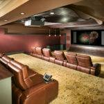 Remarkable Basement Design Beautiful Home Theatre Wall Color