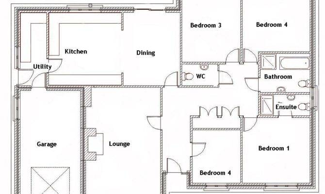 Remarkable Bedroom Bungalow Floor Plans Jpeg