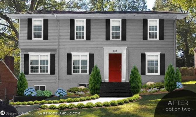 Remodelaholic Real Life Rooms Adding Colonial Curb Appeal