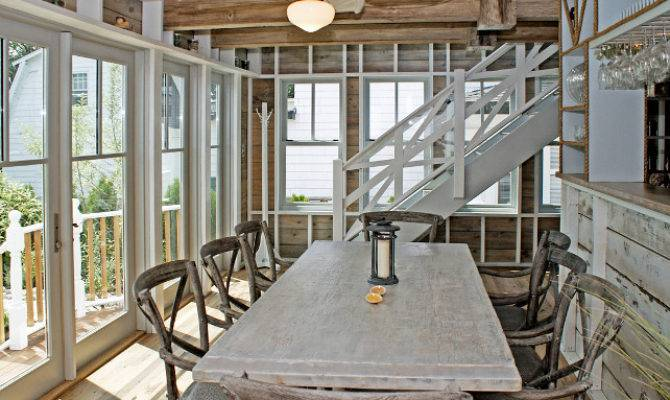 Renovated Beach House Rustic Coastal Interiors Home