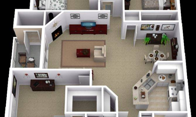 Repined Two Bedroom Apartment Layout House