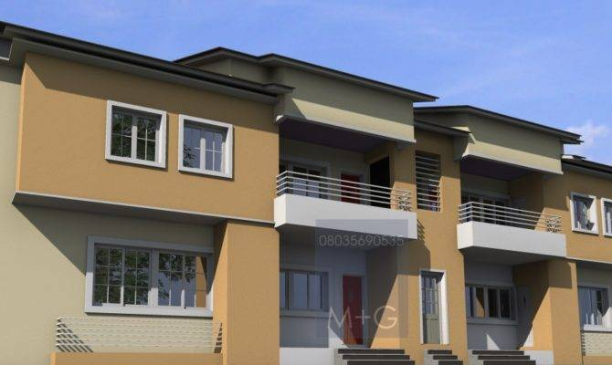 Residential Architecture Units Bedroom Flats Egbo Type