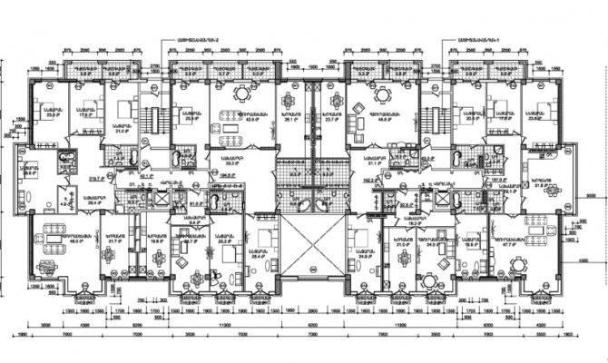 Residential Building Antarain Floor Plans Architecture