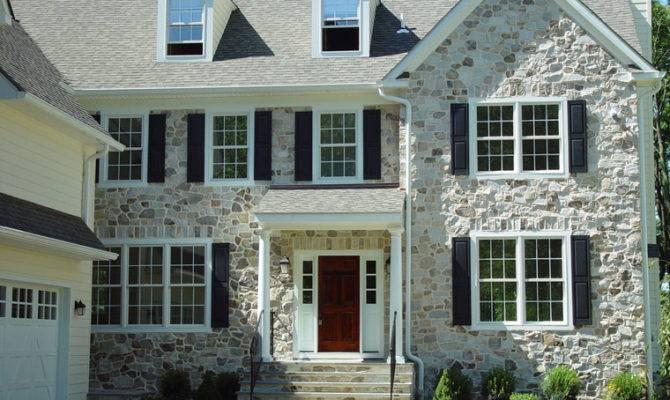 Residential Exterior Elegance Stone Veneer