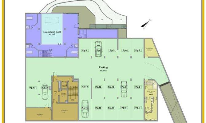 Residential Underground Garage Plans Floor Plan House