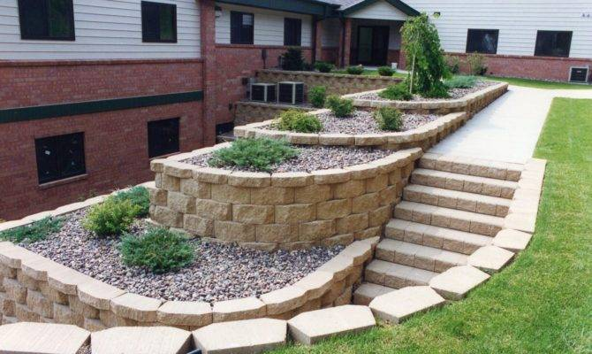 Retaining Wall Design Completing Nature Exterior Nuance