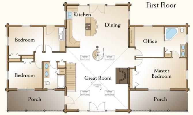 Richmond Log Home Floor Plans Custom Homes