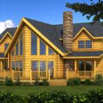 River Rock Log Home Plan Southland Homes
