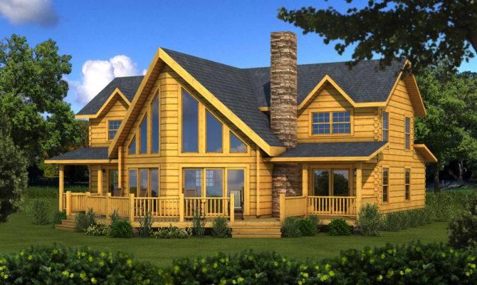 River Rock Log Home Plan Southland Homes