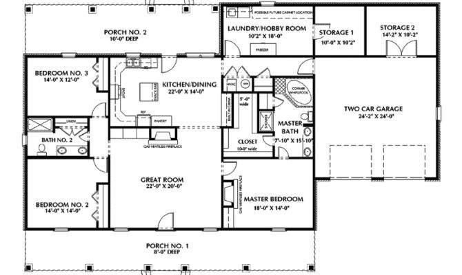 Rock Forest Southern Ranch Home Plan House Plans More