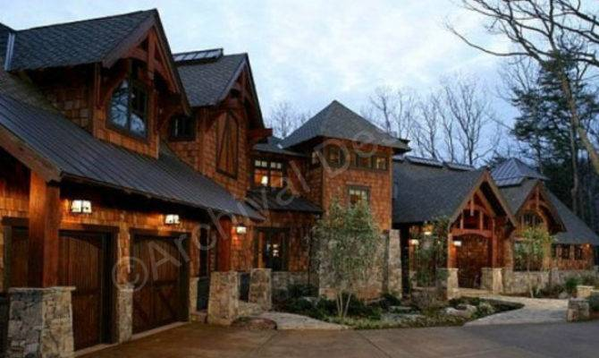 Rocky Mountain Lodge House Plan Rustic Home