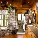 Rocky Mountain Log Homes Bathroom Designs