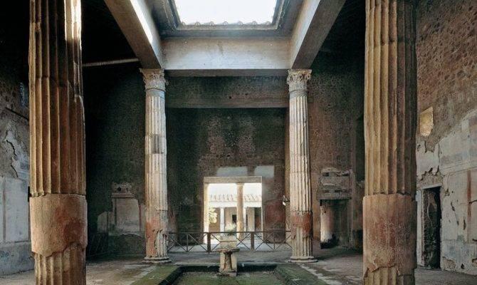 Roman Architecture Residential Buildings Pompeii Tetrastyle