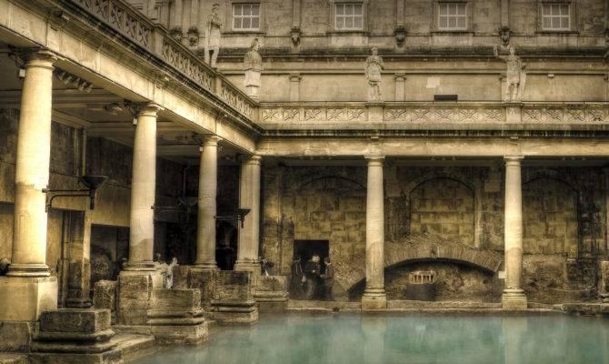 Roman Bath House Landscape