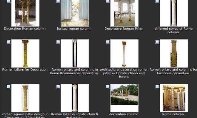 Roman Square Pillar Design Construction Real Estate