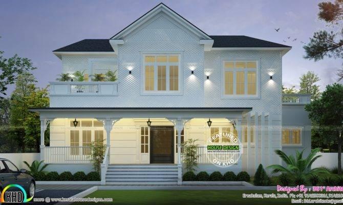 Roman Style Home Plan Kerala Design Floor Plans