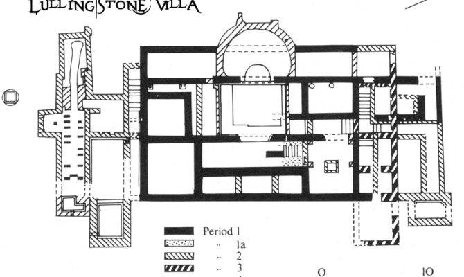 Roman Villa Floor Plan Lullingstone After