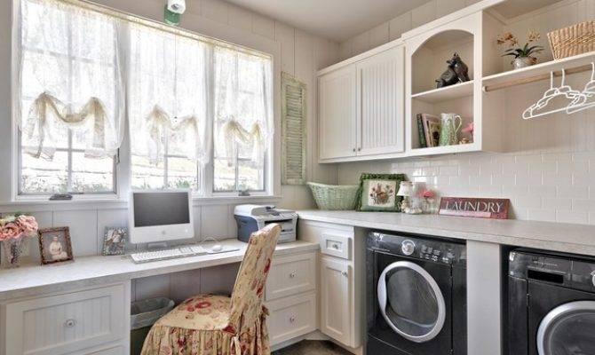 Romantic Hill Country Dream Farmhouse Laundry Room
