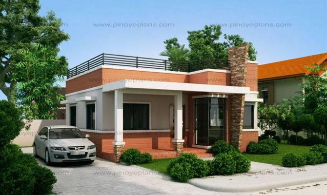 Rommell One Storey Modern Roof Deck Pinoy Eplans House Plans 88831