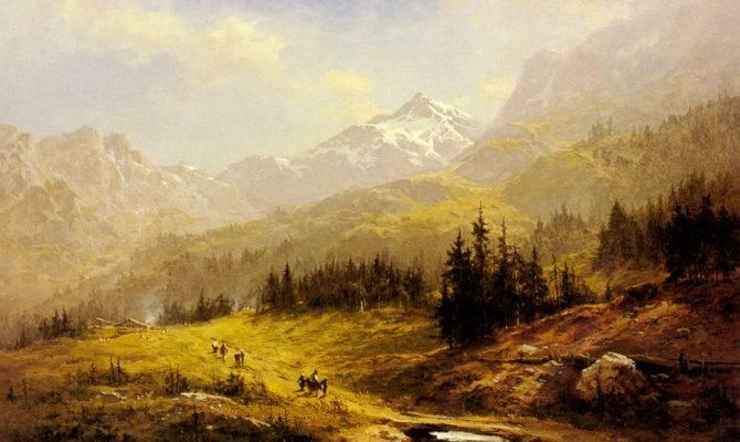 Rompedas Victorian Landscape Painter