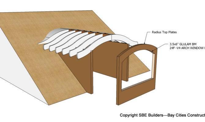 Roof Framing Geometry Eyebrow Barrel Dormer Structural Design
