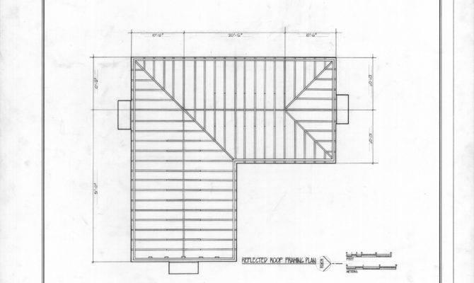 Roof Framing Plan Asa Thomas House Milton North Carolina