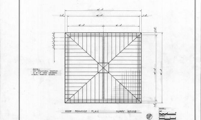 Roof Framing Plan Carriage House John Milton Odell Concord