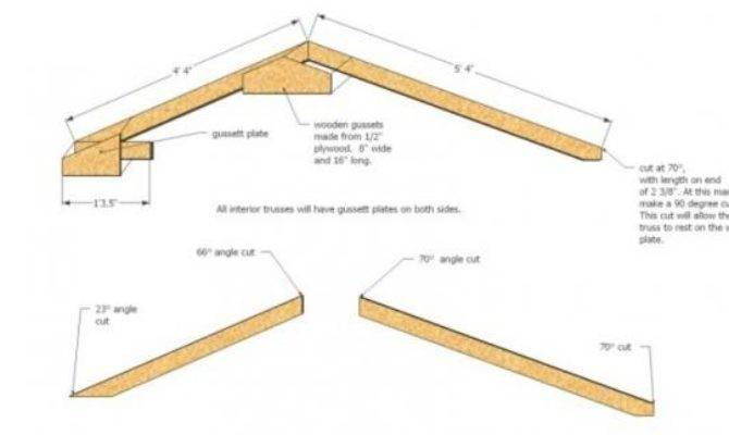 Roof Truss Question Saltbox Shed Doityourself