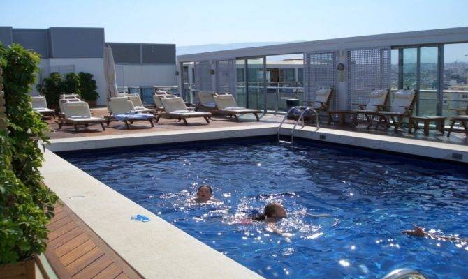 Rooftop House Design Swimming Pool