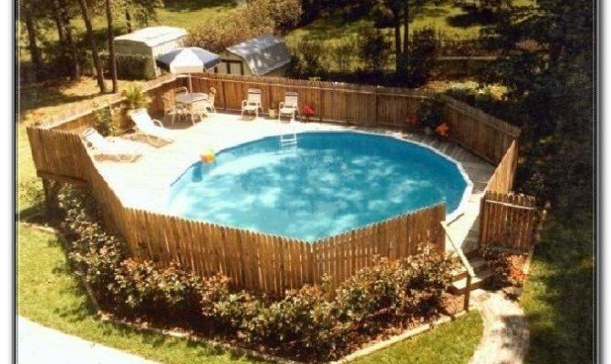 Round Pool Deck Ideas Decks Home Decorating