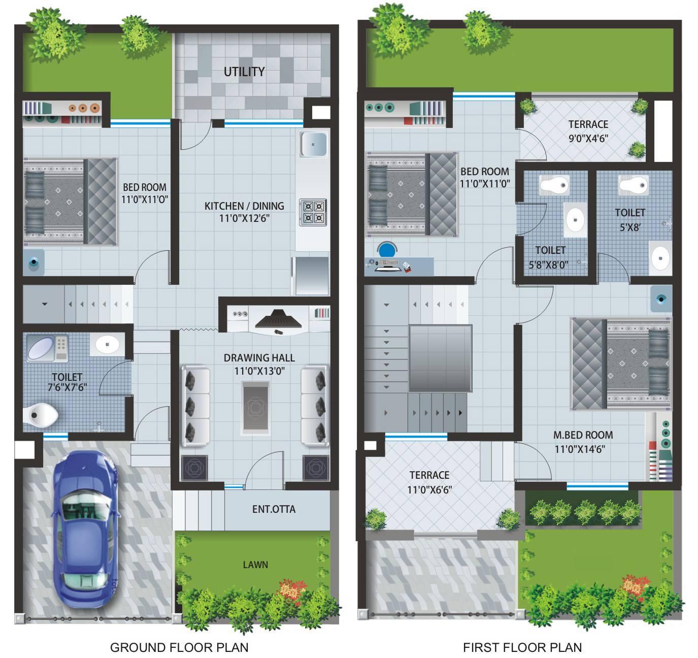 Row House Layout Plan Patel Pride