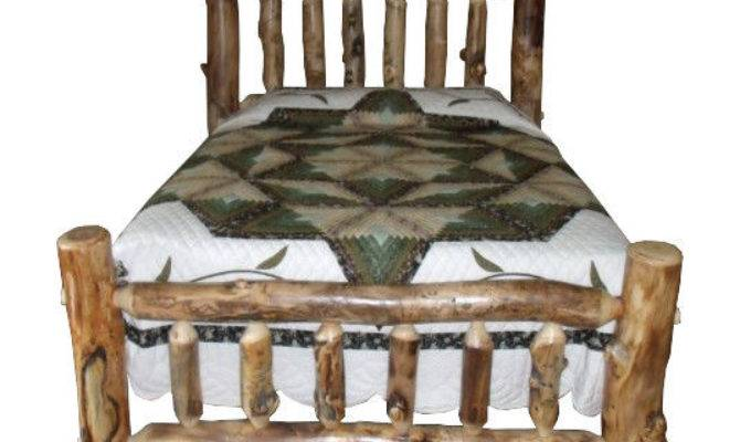 Rustic Aspen Log Bed King Mission Style