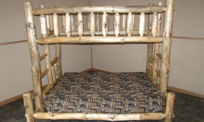 Rustic Aspen Log Bunk Beds Mission Style Twin Over