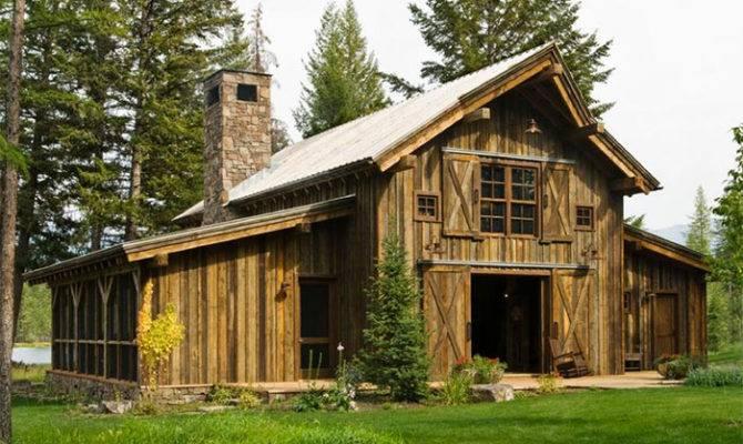 Rustic Barn Homes Cabin Home Decor