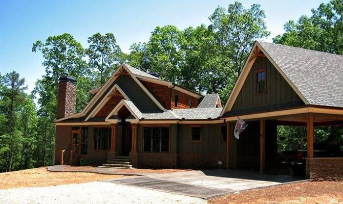 Rustic Craftsman Lake House Plan Smoky Mountain Cottage