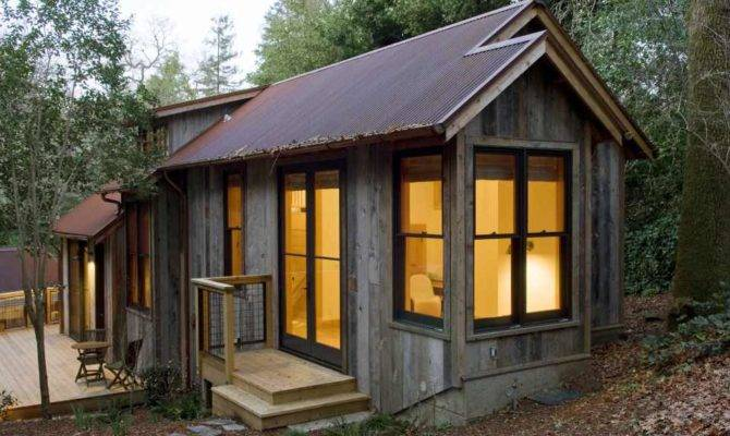 Rustic Guest Cabin Features Extensive Custom Interior Woodwork