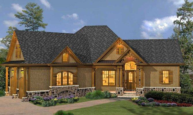 Rustic Hip Roof Bed House Plan Floor