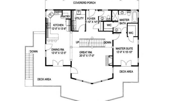 Rustic Home Plan First Floor House Plans More