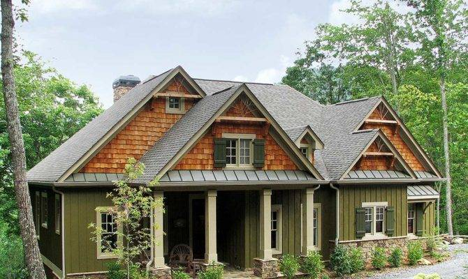 Rustic Lodge Home Plan Floor Master Suite