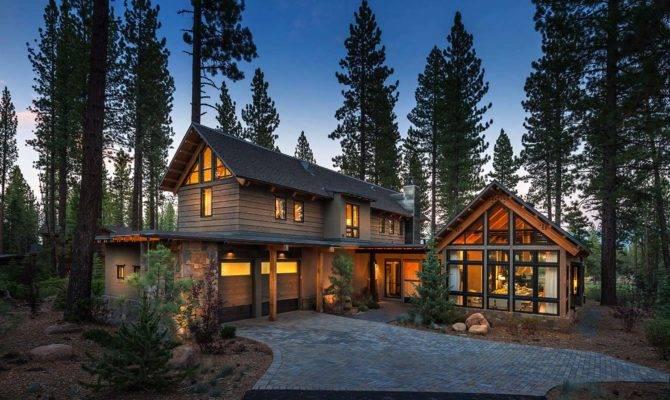 Rustic Mountain House Modern Twist Truckee