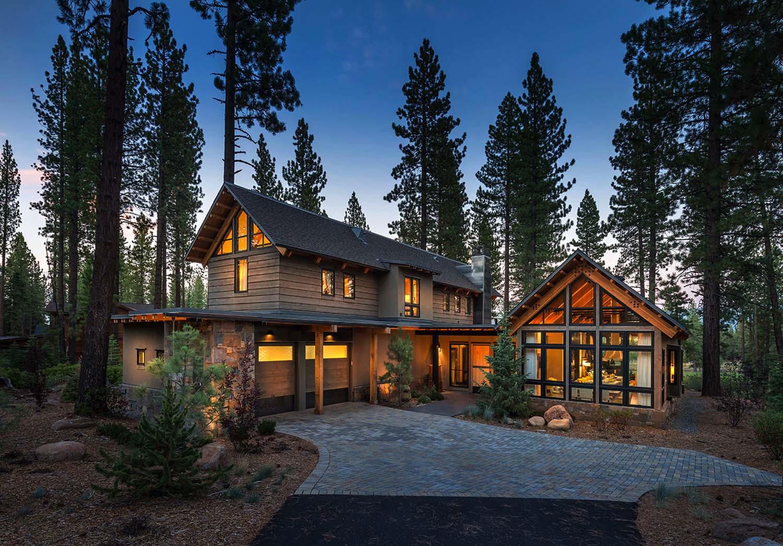 Rustic Mountain House Modern Twist Truckee House Plans