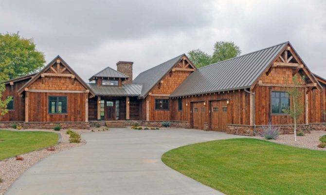 Rustic Mountain Ranch House Plan Architectural