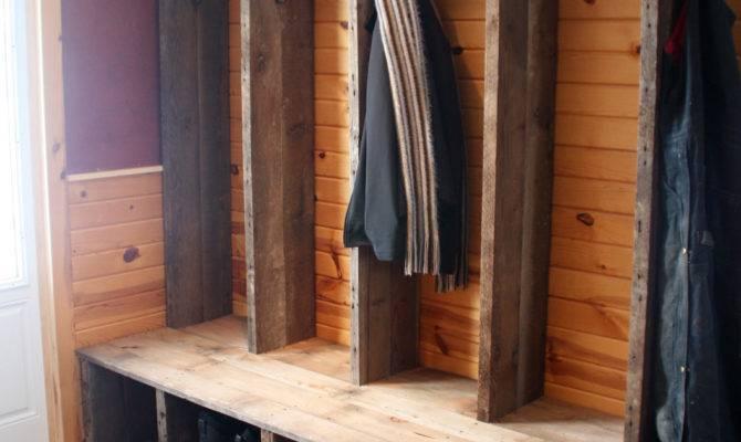 Rustic Mudroom Shoe Storage Bench Coat Hooks