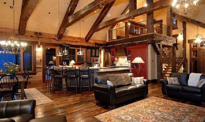 Rustic Open Floor Plan Love Location Loft Home