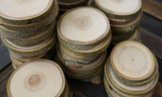 Rustic Wedding Wood Tree Slices Decor Disc