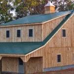Rustic Wooden Garage Pine Batten Car Shed Horizon