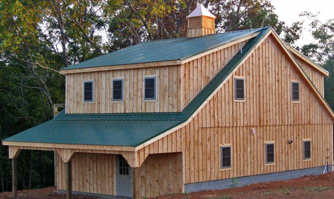 Rustic Wooden Garage Pine Batten Car Shed Horizon
