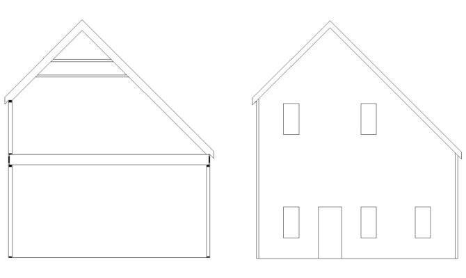 Saltbox Garage Roof Frame Framing Contractor